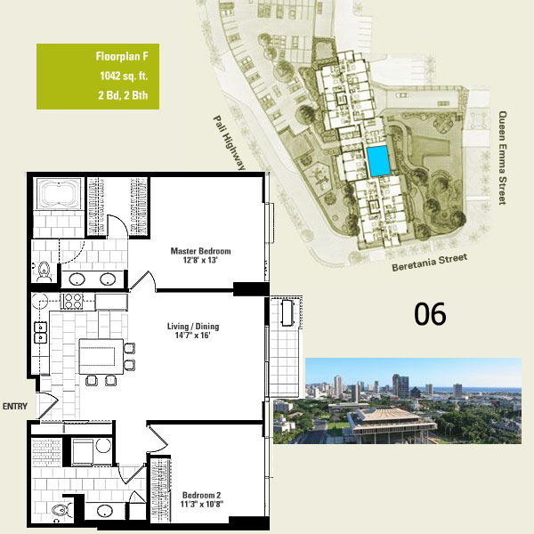 Capitol place honolulu hawaii condo by for Hawaii floor plans