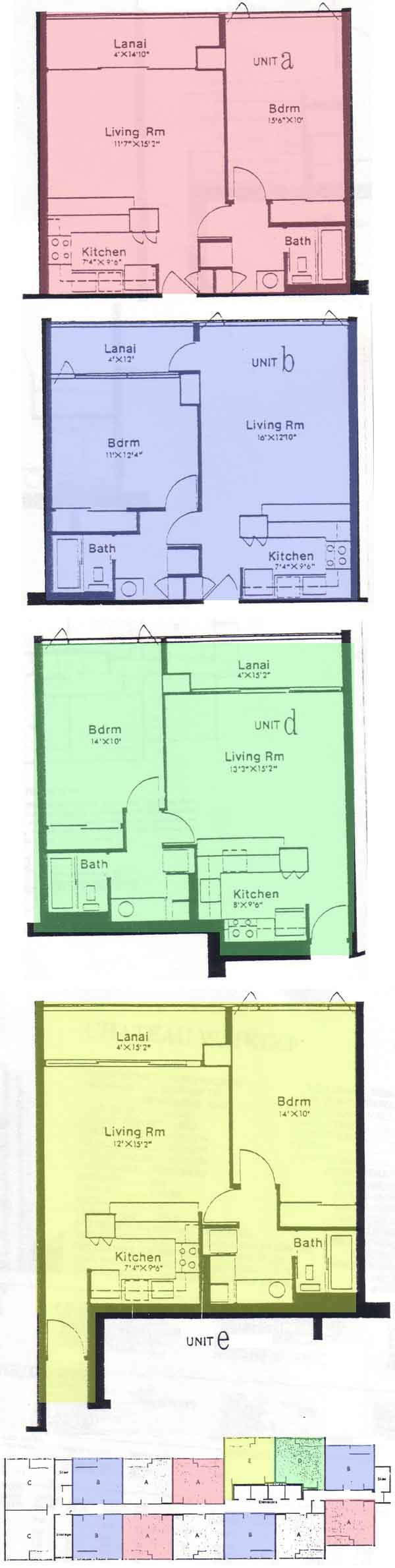 Chateau waikiki honolulu hawaii condo by for 4 unit condo plans