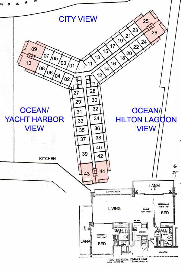 Ilikai apartments honolulu hawaii condo by for Hawaiian floor plans