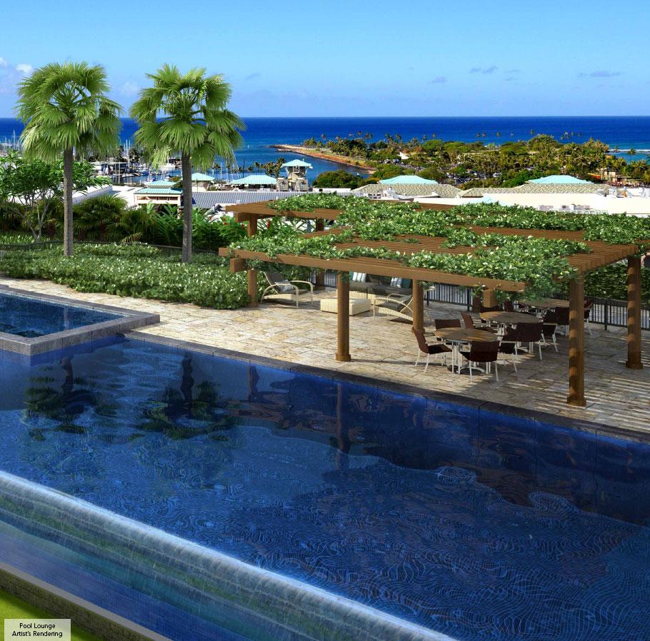 One ala moana honolulu hawaii condo by for Pool design honolulu